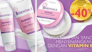 Download Promo Essentials Fairness 5 in 1 gel wash Face cream spf 8 Katalog oriflame bulan september 2015 Ind Video