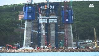Download Bridge to Russky Island in Vladivostok Video