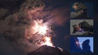 Download Spectacular Lightning in Ash Clouds from Colima volcano, Mexico (Timelapse) Video