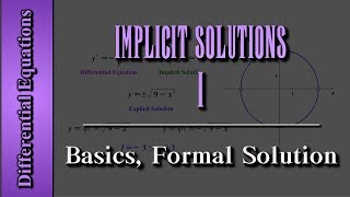 Download Differential Equations: Implicit Solutions (Level 1 of 3) | Basics, Formal Solution Video