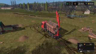 Download Farming simulator 2017 Timelapse #4   Logging on The valley the old farm Video