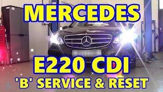 Download Mercedes E220 CDI 'B' Service & ASSYST Reset W212 Video