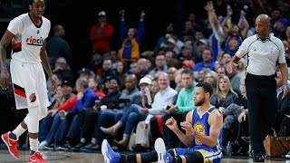 Download Steph Curry DRAINS Three-Pointer Without Looking vs Trail Blazers Video