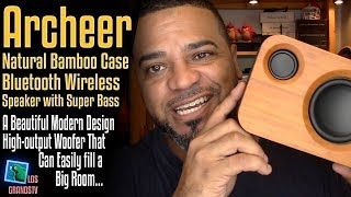 Download Archeer Bamboo 25W Bluetooth Speaker with Super Bass 🔊 : LGTV Review Video