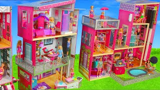 Download Barbie Dolls: Toy Dollhouse Dreamhouse w/ Kitchen, Bathroom & Bedroom Room Doll Play for Kids Video