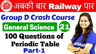 Download 12:00 PM - Group D Crash Course   GS by Shipra Ma'am   Day#21   100 Questions of Periodic Table Video