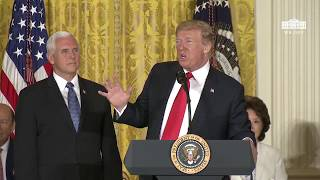 Download President Trump calls for the creation of Space Force, the sixth branch of the armed forces Video