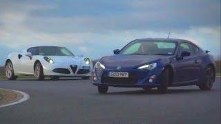 Download Alfa Romeo 4C vs Porsche Cayman vs Toyota GT86 / Scion FT86 - sportscar shootout Video