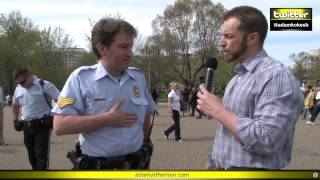 Download Adam verbally body slams, chokes out cops at White House #KOKESHED Video