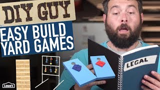 Download DIY Guy: How To Build Yard Games! Video