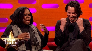 Download Whoopi Goldberg Freaks Out Keanu Reeves with Pubic Hair Talk | The Graham Norton Show Video
