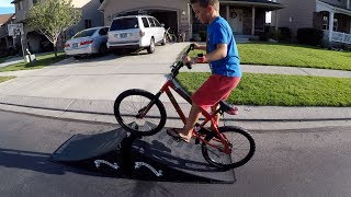 Download 😱 KID GOES OFF BIKE JUMP Video