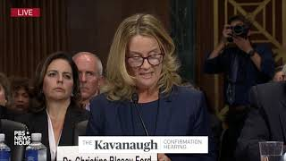 Download Christine Blasey Ford's opening remarks at Kavanaugh hearing: 'I believed he was going to rape me' Video