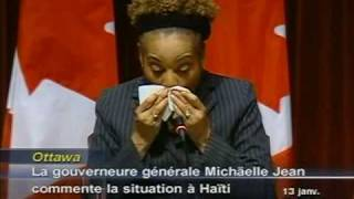 Download Canadian Governor General's emotional appeal for solidarity with Haiti Video