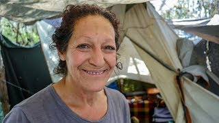 Download Los Angeles Homeless Woman Shows How She Lives in a Tent Video