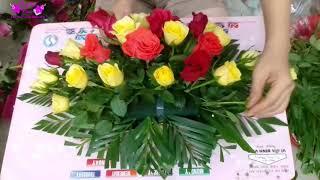 Download Hướng dẫn cắm chậu hoa hồng để bàn đơn giản, dễ thực hiện - THUY TIEN FLOWER Video