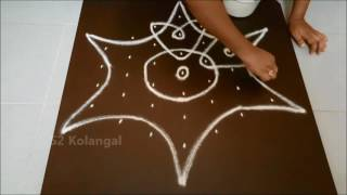 Download Simple sikku kolam with 7 to 4 interlaced dots. Video