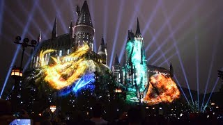 Download Nighttime Lights at Hogwarts Show, Wizarding World of Harry Potter, Universal Studios Hollywood Video