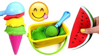 Download Kinetic Sand Ice Cream Making Learn Fruits with Toys Kinetic Sand Videos for Kids Video