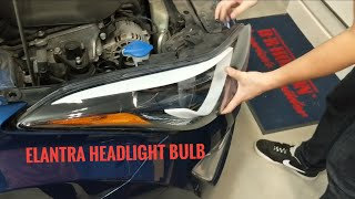 Download 2011-2016 Hyundai Elantra Headlight Bulb Replacement   How To / DIY Video