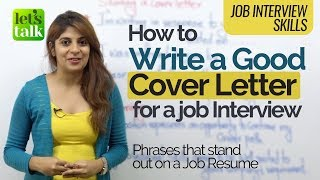 Download Job Interview Tips - How to write a 'Good Cover Letter' for a resume - Business English Course Video