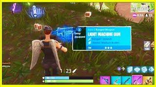 Download Fortnite: LIGHT MACHINE GUN GAMEPLAY! *NEW* LIGHT MACHINE GUN UPDATE GAMEPLAY | Fortnite! Video