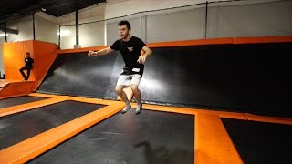 Download BACKFLIPPING AT A CRAZY TRAMPOLINE PARK! Video