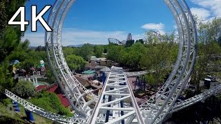 Download The New Revolution front seat on-ride 4K POV Six Flags Magic Mountain Video
