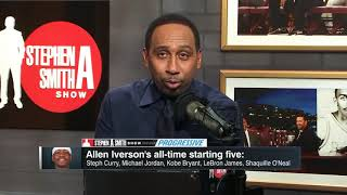 Download Allen Iverson breaks down why he picks Steph and Kobe over Magic on his top five all time list Video