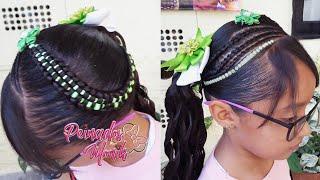 Download Peinados infantil/ trenza doble pasacinta con liston y un coleta de lado Video