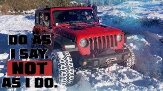 Download Do As I Say, NOT As I Do. Snow Wheeling Gone Wrong in our Jeep Wrangler JLU Rubicon! Video