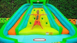Download Vlad and Nikita play with inflatable Toys Video