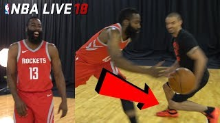 Download IRL Basketball vs NBA LIVE 18 COVER STAR! JAMES HARDEN BROKE MY ANKLES! (NBA Live 18 Cover Reveal) Video