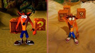Download Crash Bandicoot Graphics Comparison: PS1 vs. PS4 Pro Video