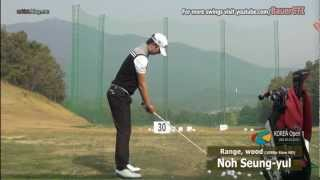 Download [1080P SLOW] Noh Seung-yul WOOD with Practice Golf Swing Driving Range 2012 (1) Video