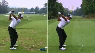 Download Tiger Woods' side-by-side swing analysis at The Greenbrier Video