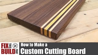 Download Custom Cutting Board from Scrap Wood | How to Make Video