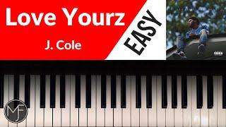Download ″Love Yourz″ - J. Cole Piano Tutorial Video