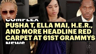 Download Pusha T, Ella Mai, H.E.R., Miguel and More Headline 2019 Grammys Red Carpet Video