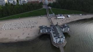 Download Sellin Beach in Rugen Germany seen from a Drone Video