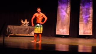 Download Lawrence Achey performs impressive men's physique T Walk at the OCB Jersey Natural Open Video