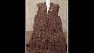 Download Ажурная безрукавка спицами. Часть 1 Спинка . Openwork vest knitting Video