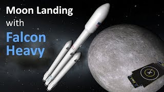 Download Moon landing with reusable SpaceX rockets in KSP/RO Video
