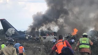 Download Watch: Aeroméxico plane crashes moments after take-off Video