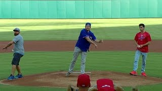 Download Dude Perfect's first pitch, trick shot ideas Video