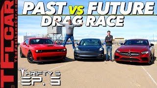 Download Will a Free Tesla Software Update Make a Model 3 Quicker Than a Hellcat or AMG? Thrifty 3 Ep.3 Video