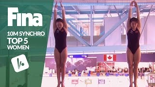Download Top 5 - Women's 10m Synchronised | FINA/NVC Diving World Series - Windsor 2017 Video