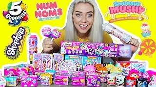 Download UNBOXING 100 SURPRISE TOYS! $800 SUPRISE TOYS! NUM NOMS, 5 SURPRISE, SHOPKINS, SMOOSHY MUSHY Video