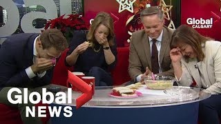 Download Holiday artichoke dip goes terribly wrong on-air Video