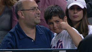 Download Young fan gets signed ball after getting hit Video